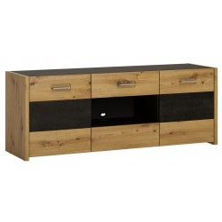 Andorra TV Unit - 2 Doors 2 Drawers, angle view