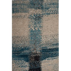 Ordos Patterned Rug - Turquoise