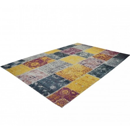 Glina Patchwork Rug Angled View