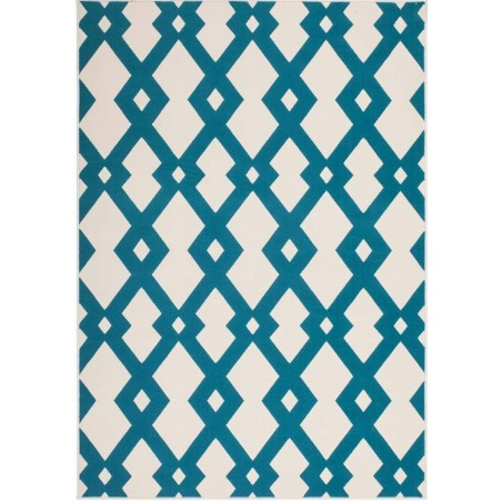 Ankara Geometric Rug - Blue