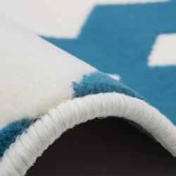 Ankara Geometric Rug - Blue Pattern Detail