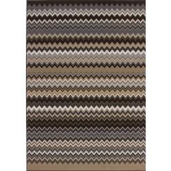 Ankara Zigzag Rug - Brown