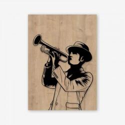 Trumpet Wooden Frame close