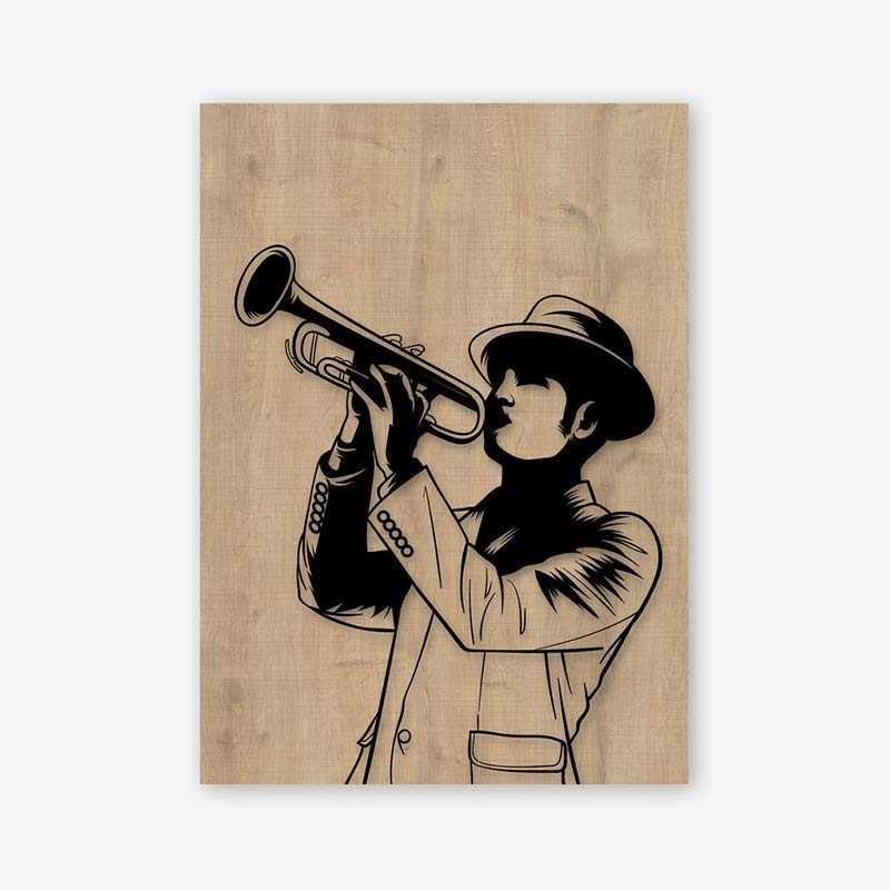 An image of Trumpet Wooden Frame