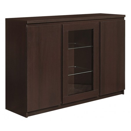 Quillan 3 Door Sideboard (Glazed Centre), angle view