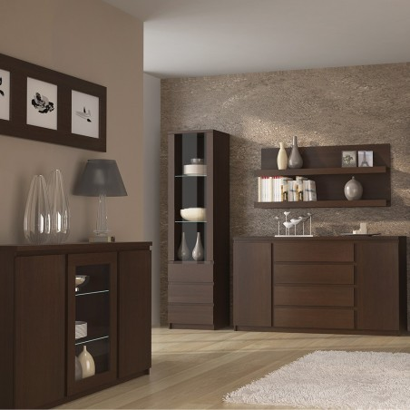 Quillan 3 Door Sideboard (Glazed Centre), room shot 1
