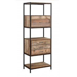 Camden Urban 3 Drawer Shelving Unit, front angled view