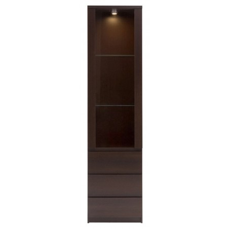Quillan Glazed Display Cabinet, front view 2