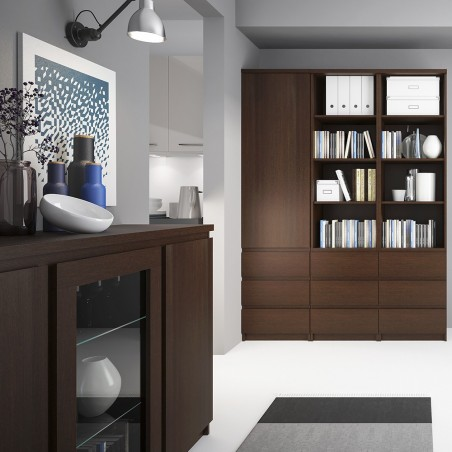 Quillan Tall Narrow Bookcase, room shot 4