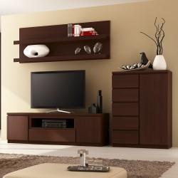 Quillan 1 Door 5 Drawer Cabinet, room shot 1