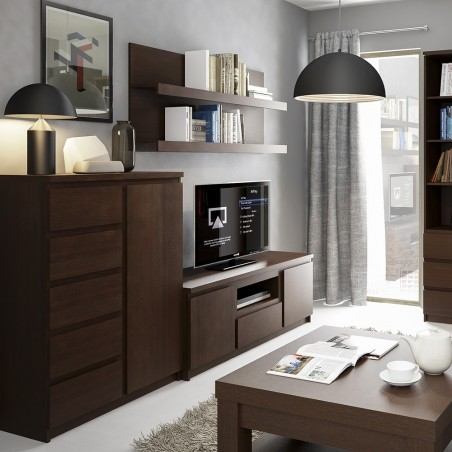Quillan 1 Door 5 Drawer Cabinet, room shot 2