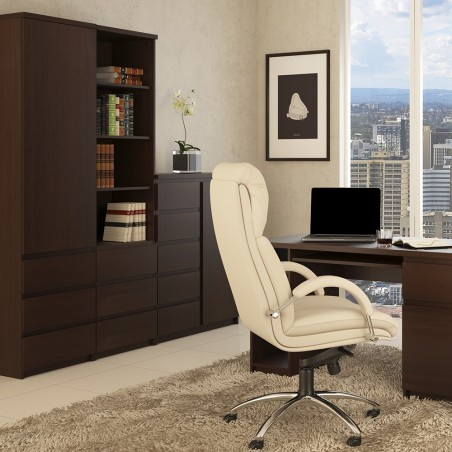 Quillan Twin Pedestal Desk, room shot 1