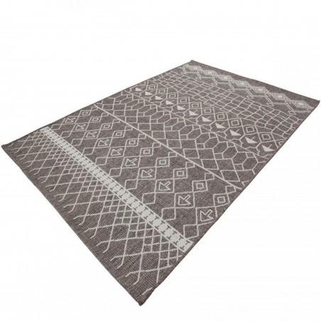 Zinder Geometric Rug - Beige Angled View