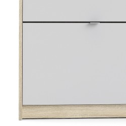 Barden Shoe Cabinet in white/oak, door detail