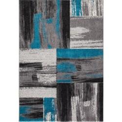 Alvor Brush Styled Rug - Blue
