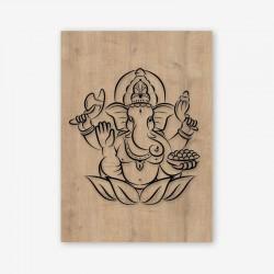 Ganapati Wooden Frame close