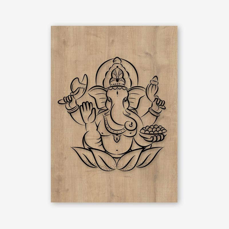 An image of Ganapati Wooden Frame