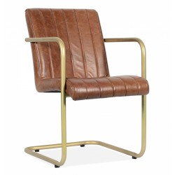 Walter Industrial Dining Chair, front angled view