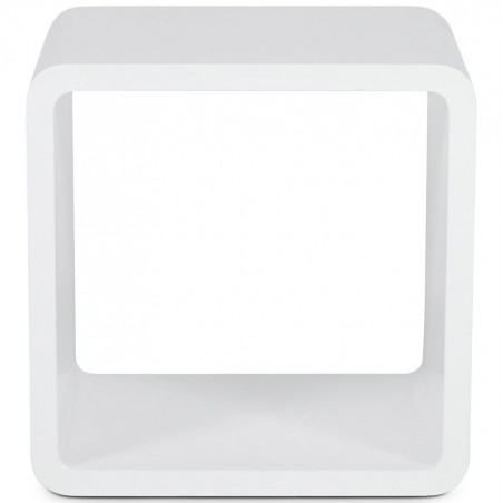 Cubo Square Side Table White Front View