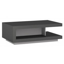Darley Designer Coffee Table in two-tone grey gloss, angle view