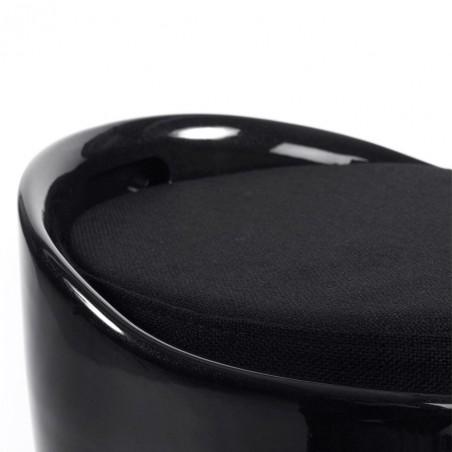 Cangilon Low Stool - Black Detail Side View