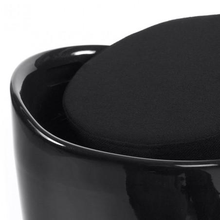 Cangilon Low Stool - Black Top Detail