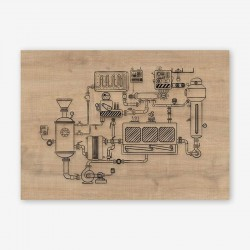 Motore Wooden Frame Close
