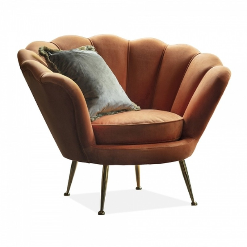 Audrey Velvet Armchair - Orange