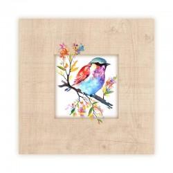 Bird Wooden Frame Close