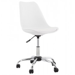 Brady Office Chair With Soft Pad Seat - White