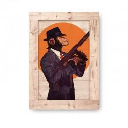 Gangster Wooden Frame Close