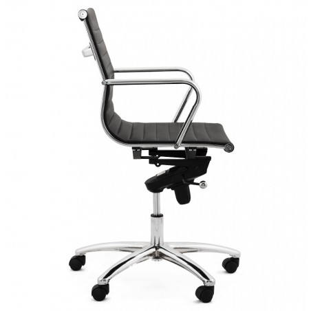 Austin Short Back Office Chair - Black Side View
