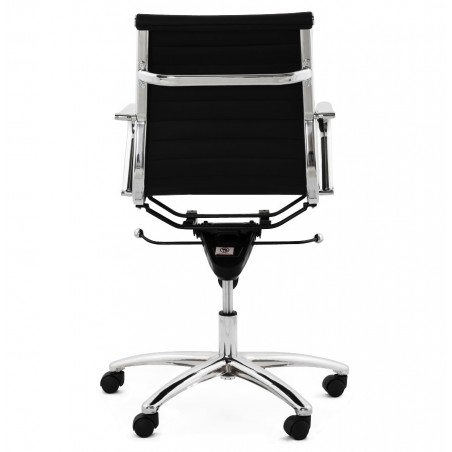 Austin Short Back Office Chair - Black Rear View