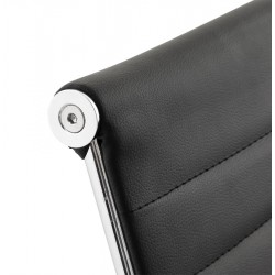 Austin Short Back Office Chair - Black Top Detail