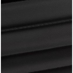 Austin Short Back Office Chair - Black Material Detail
