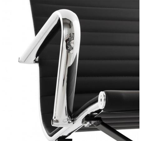 Austin Short Back Office Chair - Black Arm Detail