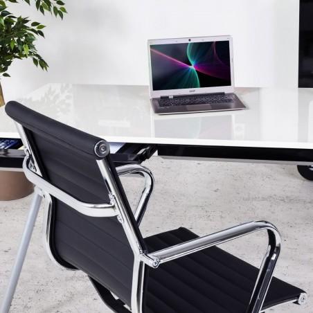 Austin Short Back Office Chair - Black Mood Shot 1