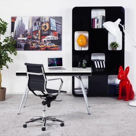 Austin Short Back Office Chair - Black Mood Shot 2