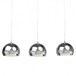 Tripa Dome Shade Ceiling Lamp - Chrome