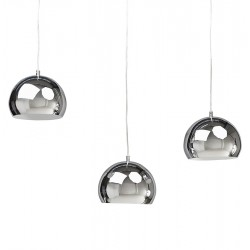 Tripa Dome Shade Ceiling Lamp - Chrome Option 2