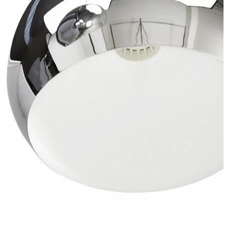 Tripa Dome Shade Ceiling Lamp - Chrome Shade Internal Detail