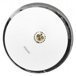 Tripa Dome Shade Ceiling Lamp - Chrome Shade Internal Fitting Detail