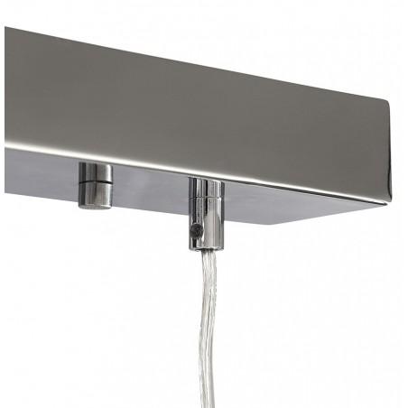 Tripa Dome Shade Ceiling Lamp - Chrome Rose Detail