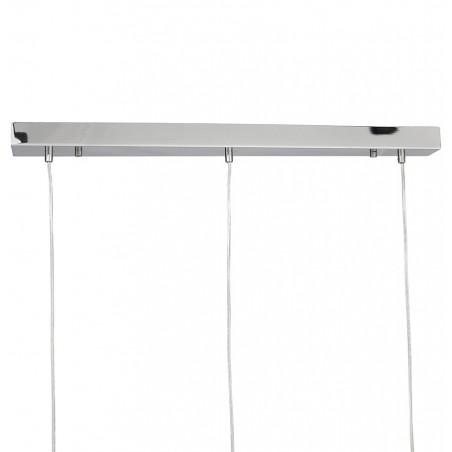 Tripla Dome Shade Ceiling Lamp - Chrome Rose  Bar