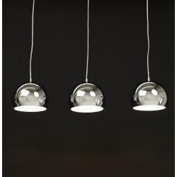Tripla Dome Shade Ceiling Lamp - Chrome Mood Shot