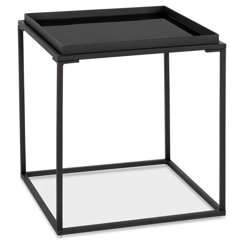 An image of Loudo Black Side Table