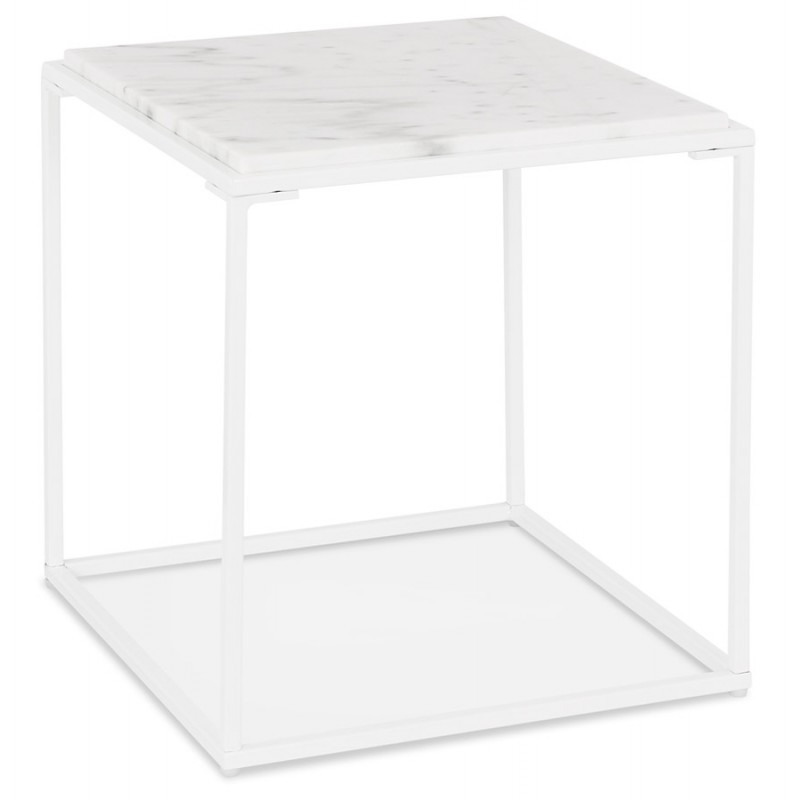 An image of Marmo White Side Table