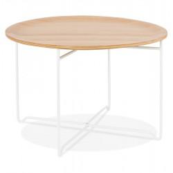Mareano Round Coffee Table - White / Natural