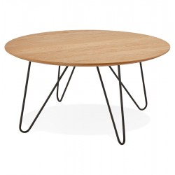 Rundo Industrial Style Coffee Table - Oak Finish