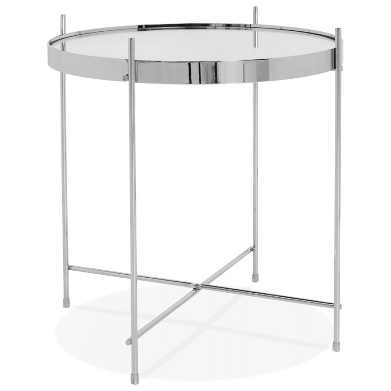 An image of Espodra Side Table - Copper Metal